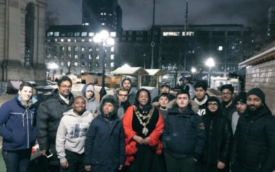 Pupils bed down for the night for homelessness sleepover