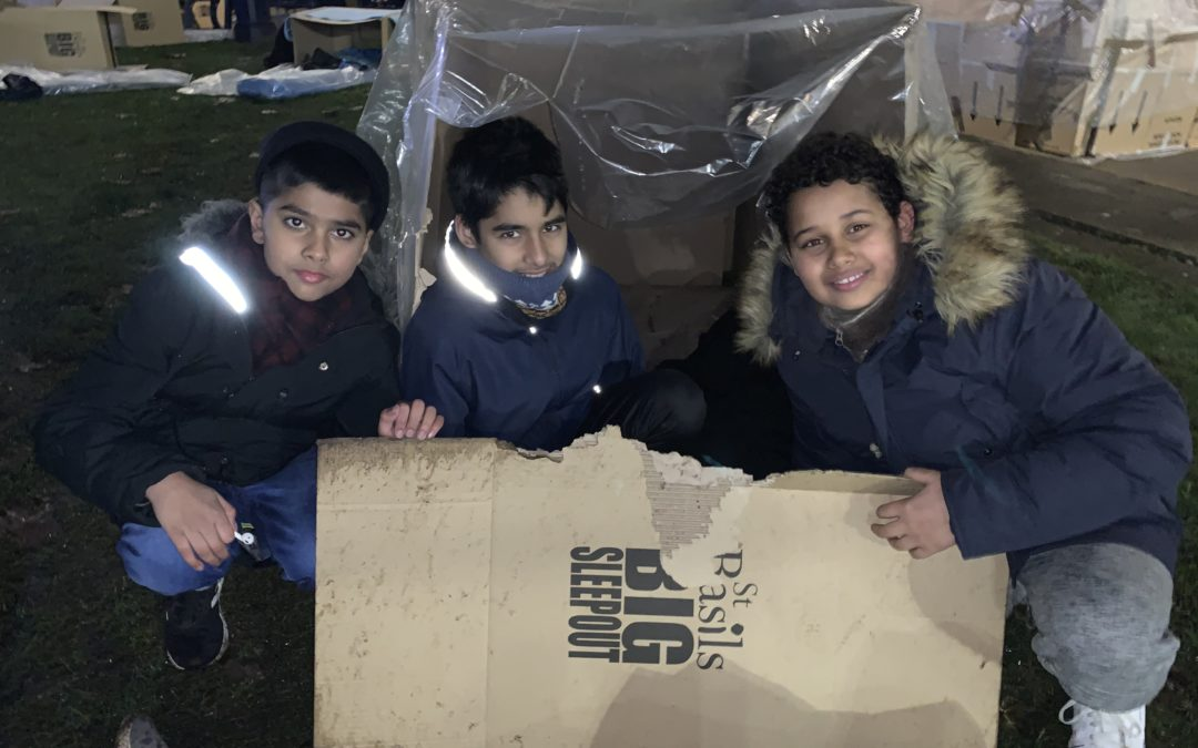 Pupils brave the cold for Birmingham's homeless communities